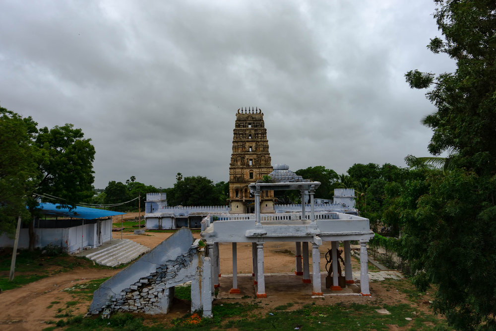 View of the Mandapam in front of the Temple