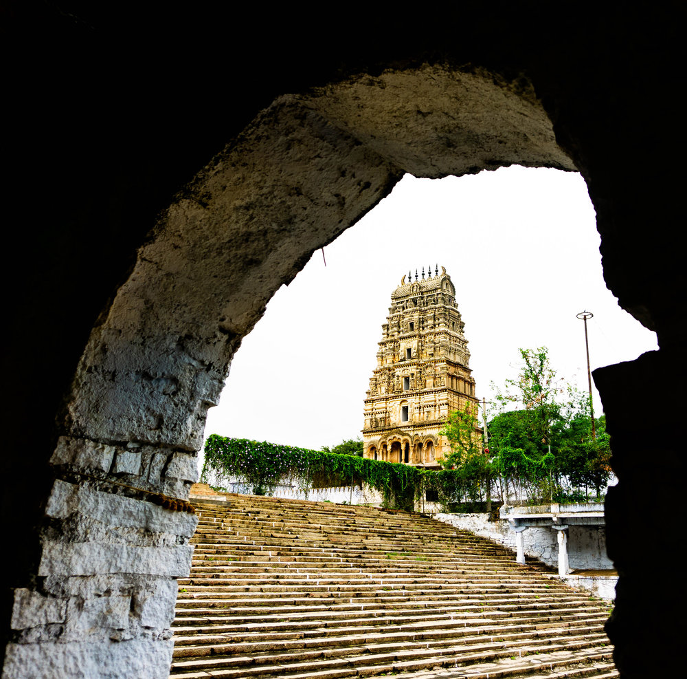View of Temple from the stepwell