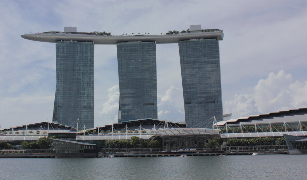 Marine Bay Sands an Integrated hotel which was opened in 2010. One of the worlds most photographed buildings