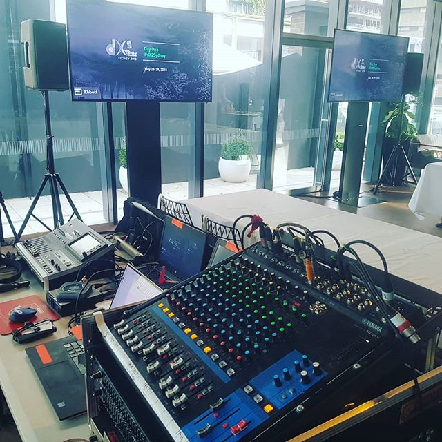 Todays office..includes 3 pc's,3 hand helds and a 2 way skype call to america with sdi camera feed #liveevents #livestreamingvideo #livestream #avtech #avtechnician #skype #av #corporateevents #corporateav