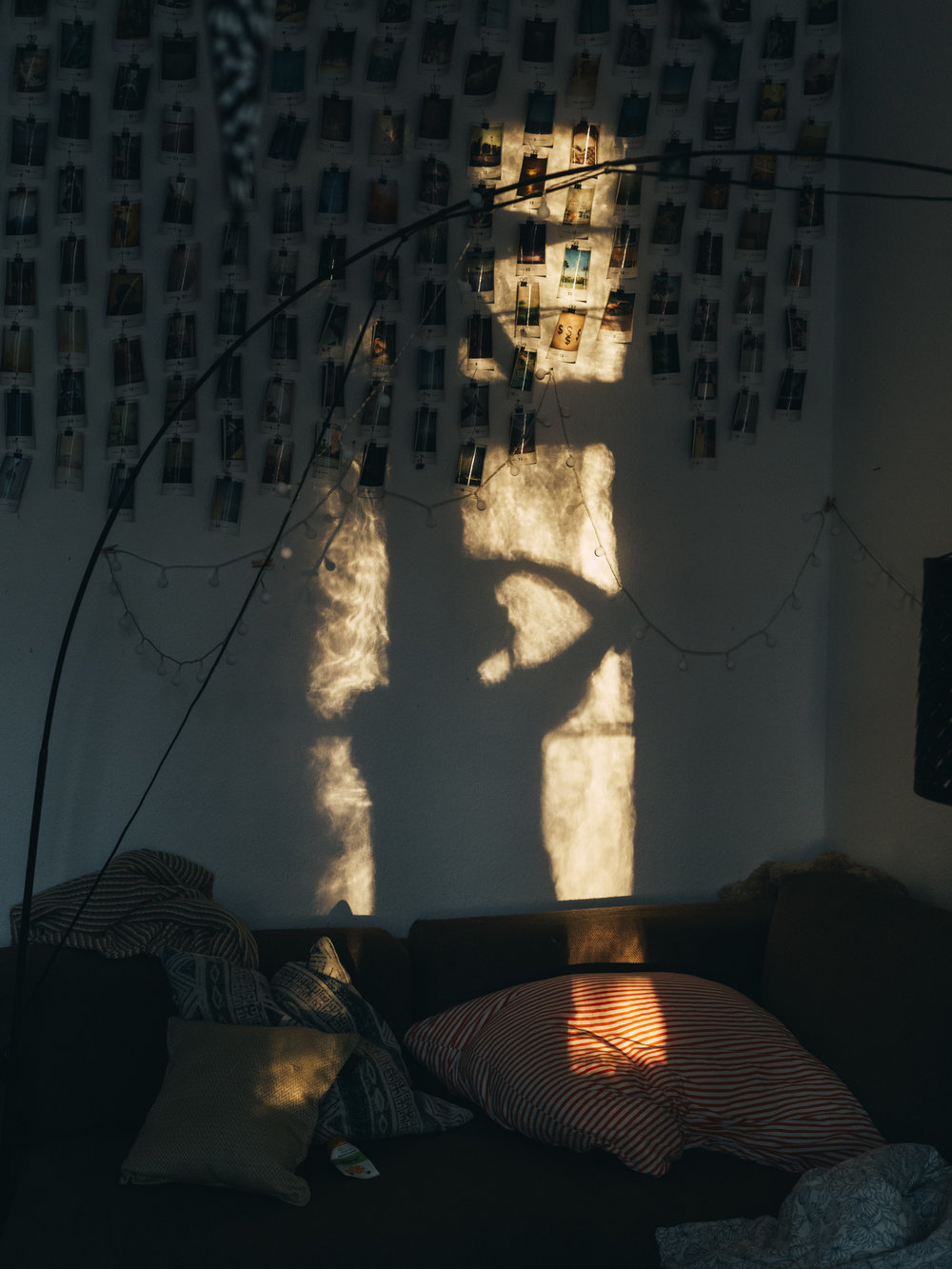 My shadow in my living room