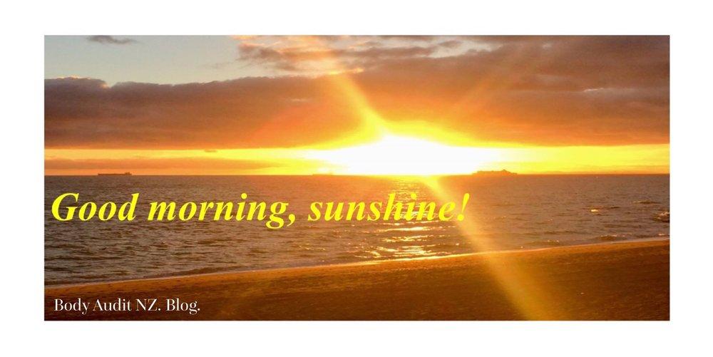 Good Morning Sunshine Body Audit