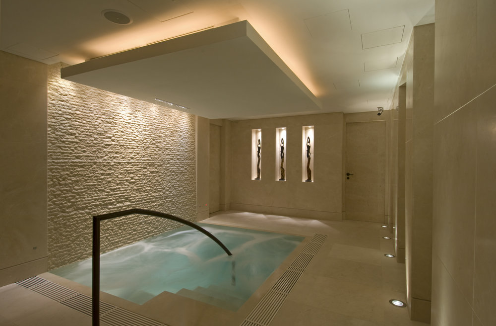 The Ushvani Pool to be enjoy pre or post treatment.