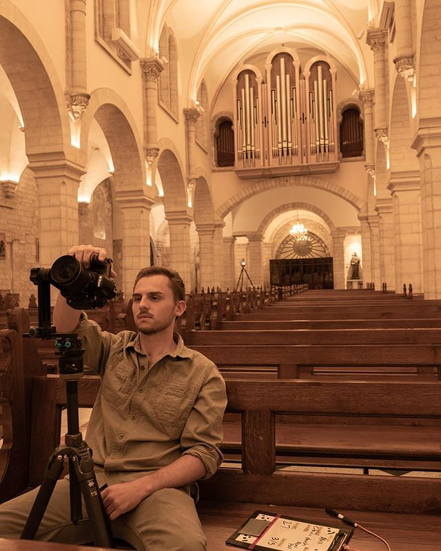 Last month, the VW team traveled to Bethlehem, to digitally document the Church of the Nativity - the birthplace of Jesus. Pano-catcher extraordinaire, @alexwarham (pictured above) takes his last scan of the night, at the Catholic Church.  What's a pano? The panorama system use is designed to give us 360 degree views from the perspective of a single location, using HDR imagery to capture all available detail. This allows us to capture all of the background material and skybox that is otherwise not properly scanned through standard photogrammetry, to be later implemented in VR or larger-scale reproduction. #virtualwonders  Shot by: @akasha_kae