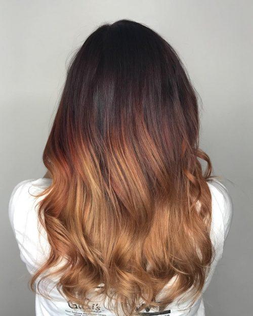 Image 3: Contoh hasih cat rambut ombre