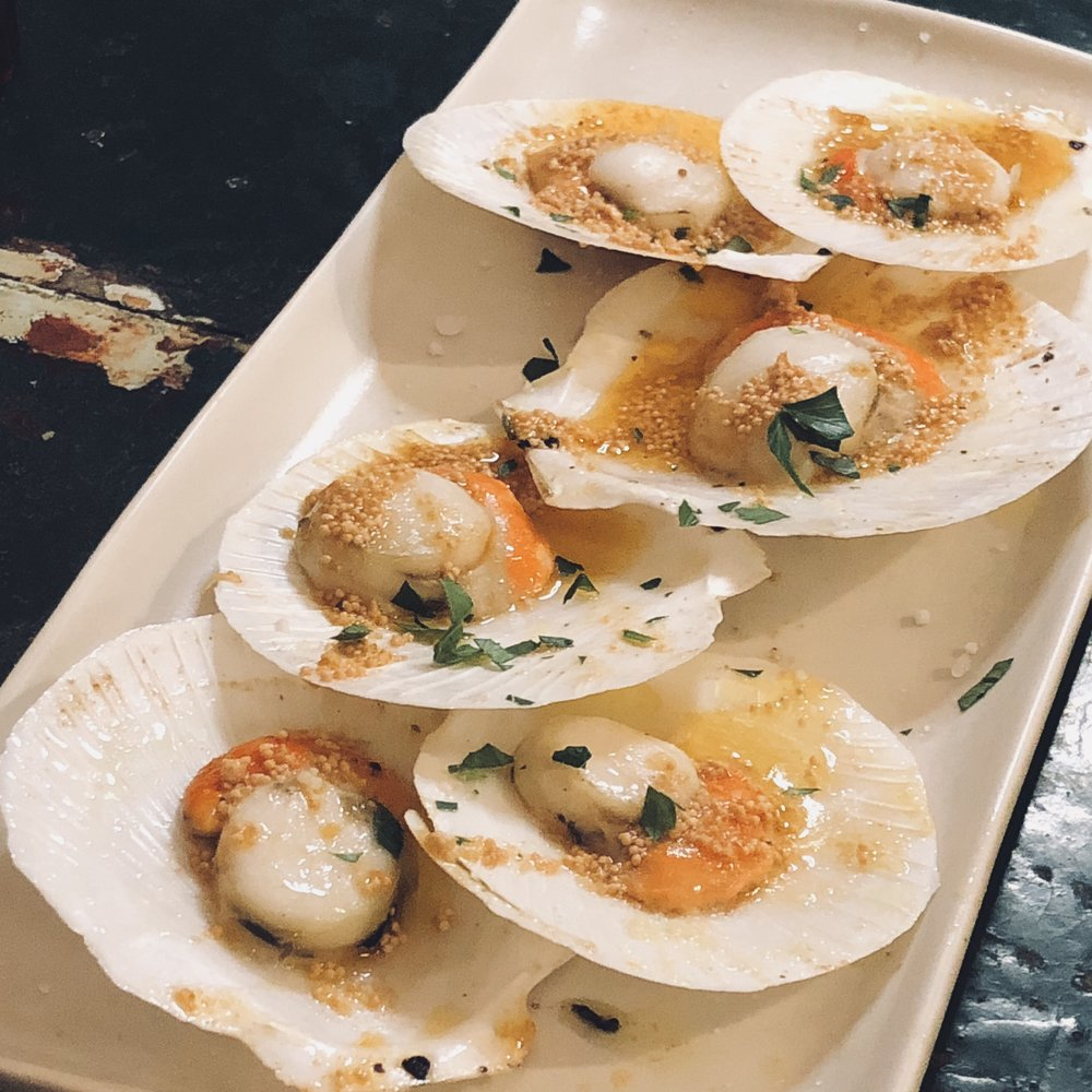 Baked Scallops with Capiz Fish Roe- as good as the dish I grew up with from the same region.