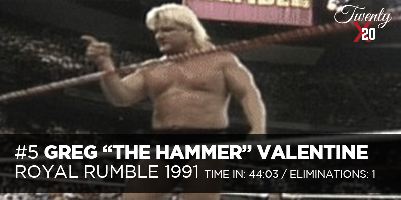 Greg Valentine 1991 Royal Rumble