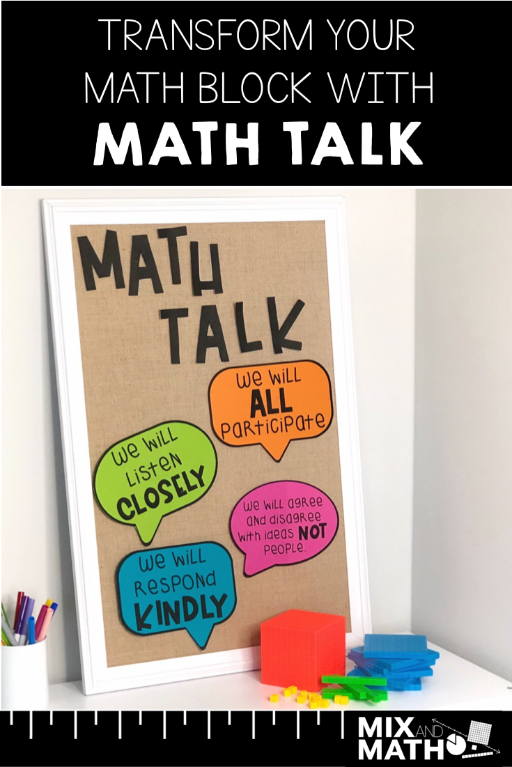 Kids love to talk. How can we as teachers tap into this to improve math learning in our classroom? By making math talk a welcomed part of our daily routine.
