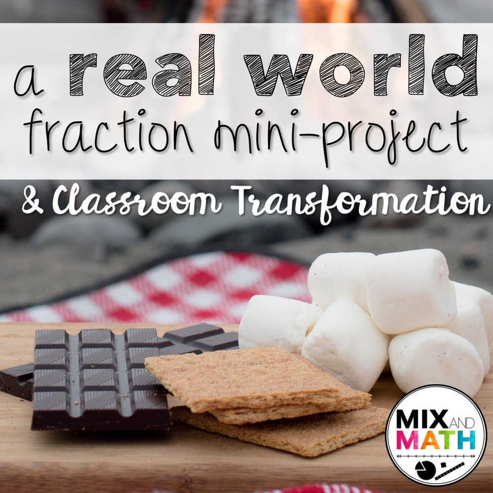 Multiplying Fractions and whole numbers - Go on a camping trip, make s'mores and practice multiplying whole numbers by fractions.