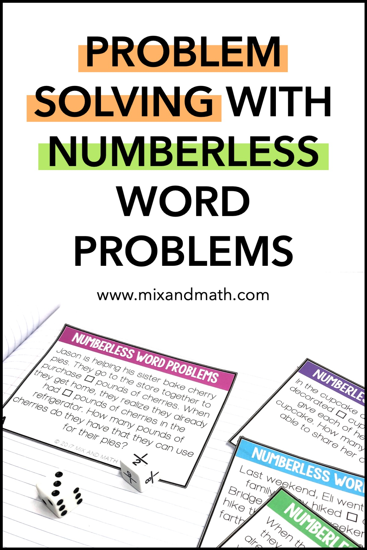 The Power of Numberless Word Problems — Mix and Math