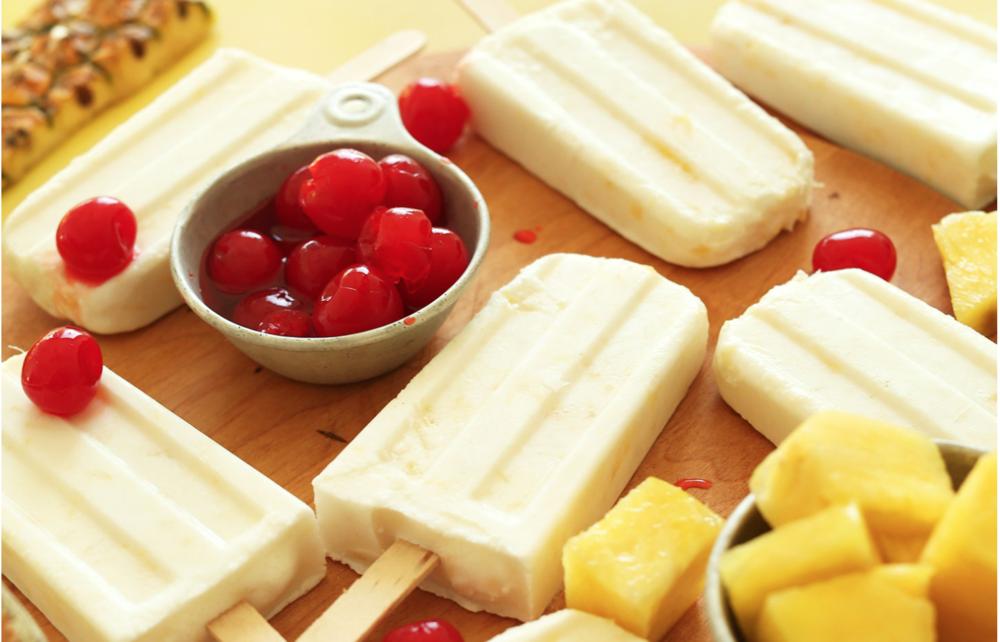 Creamy Pina Colada Popsicles  [Minimalist Baker]