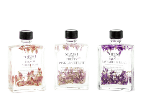 Trio Floral Infused Body Oil      Blk + Grn