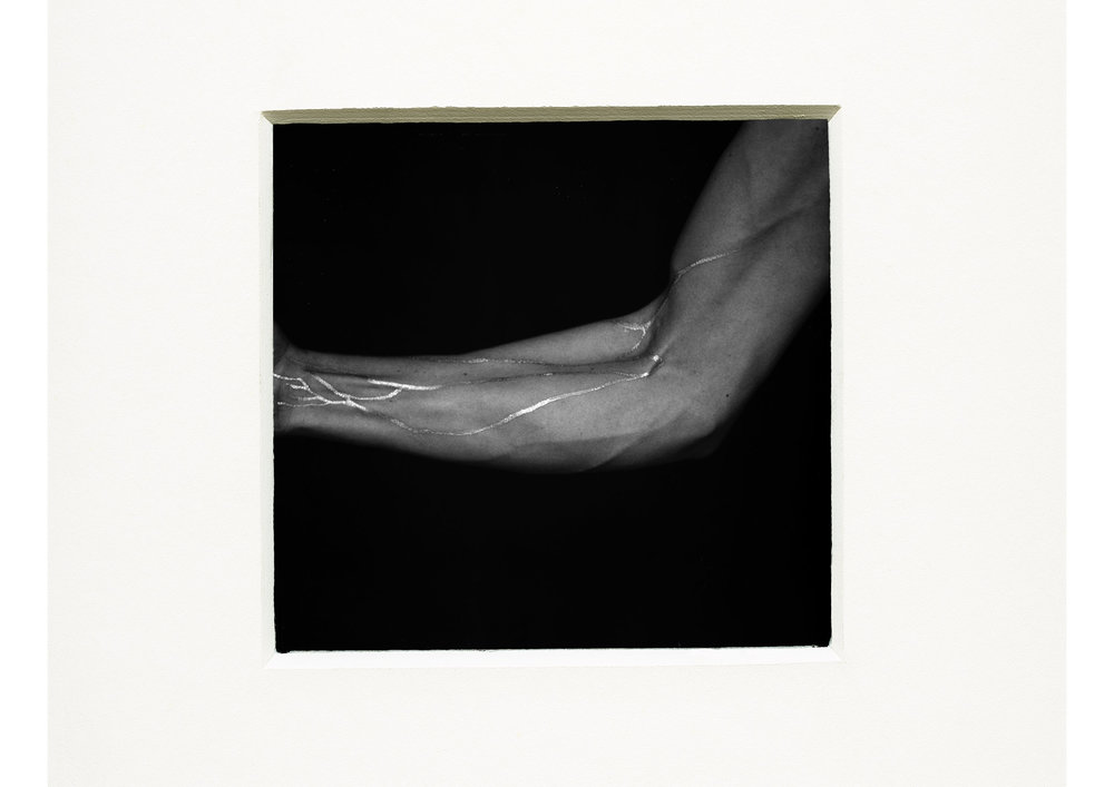 Rebecca Rose Harris, Analogue Photography, silver veins, black and white
