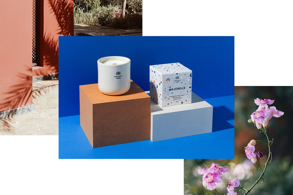 Majorelle - Inspired by the Jardin Majorelle in Marrakech, our Majorelle candle transports you to the shady Moroccan garden lanes of what was once Yves Saint Laurent's holiday home.View Majorelle