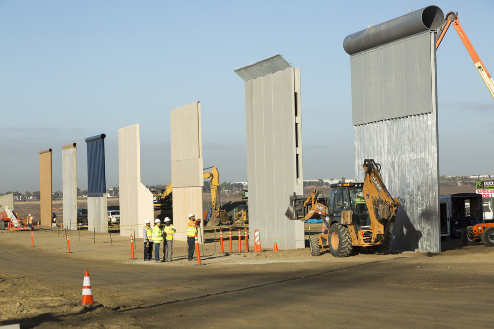 - Border wall prototypes. Photo by Mani Albrecht, U.S. Customs & Border Protection, Oct 2017.