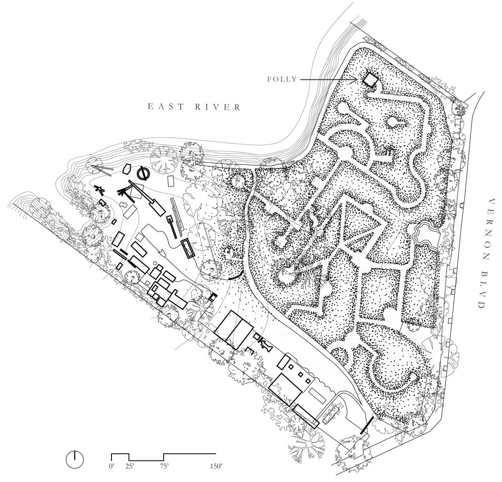 Site plan, Socrates Sculpture Park, Queens, NY