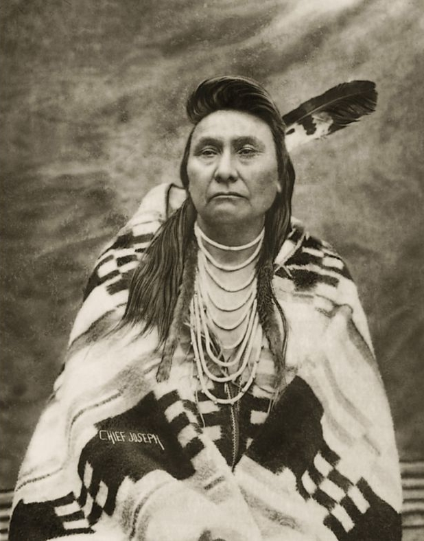 Photo from LA Times:  Chief Joseph of the Nez Perce. (Pendleton USA)