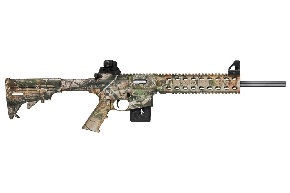 M&P15-22  A dedicated .22 LR platform, the M&P15-22 Series comes in camo or black availability, and this high performance semi-automatic rifle is perfect for small game hunting and training to competition.