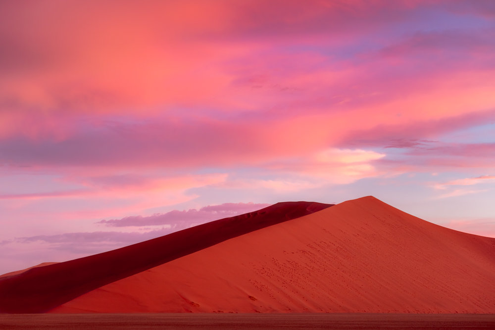 Dramatic Sunset Red Dunes Sossusvlei