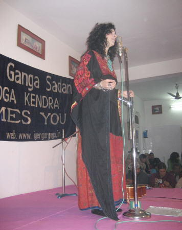 Performing in the Patanjala Yoga Kendra
