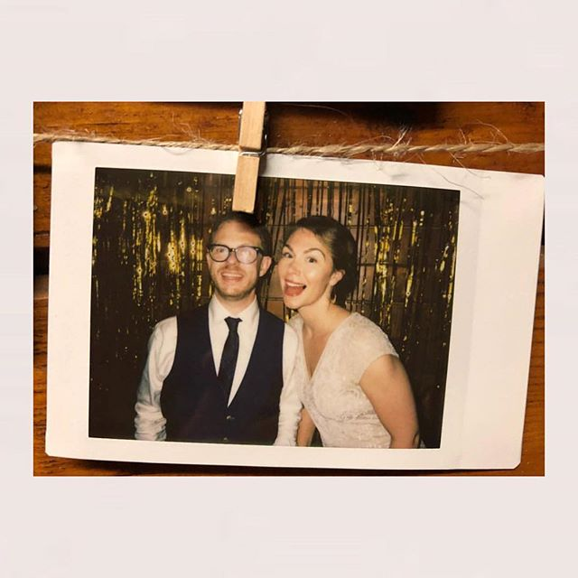 ✨ Congrats to two of my favorite meditation teachers of all time! @lodrorinzler + @adreannalimbach tied their gorgeous knot last night in a beautiful ceremony, followed by some wild dancing. May your marriage be wild and beautiful as well. ✨ ✨ ✨ digital pic by @jccastro1 of a Polaroid I took so now this photo credit seems super meta | sorry for your missing eye Lodro ✨