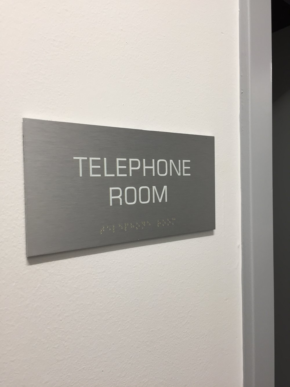 ADA Room ID Sign