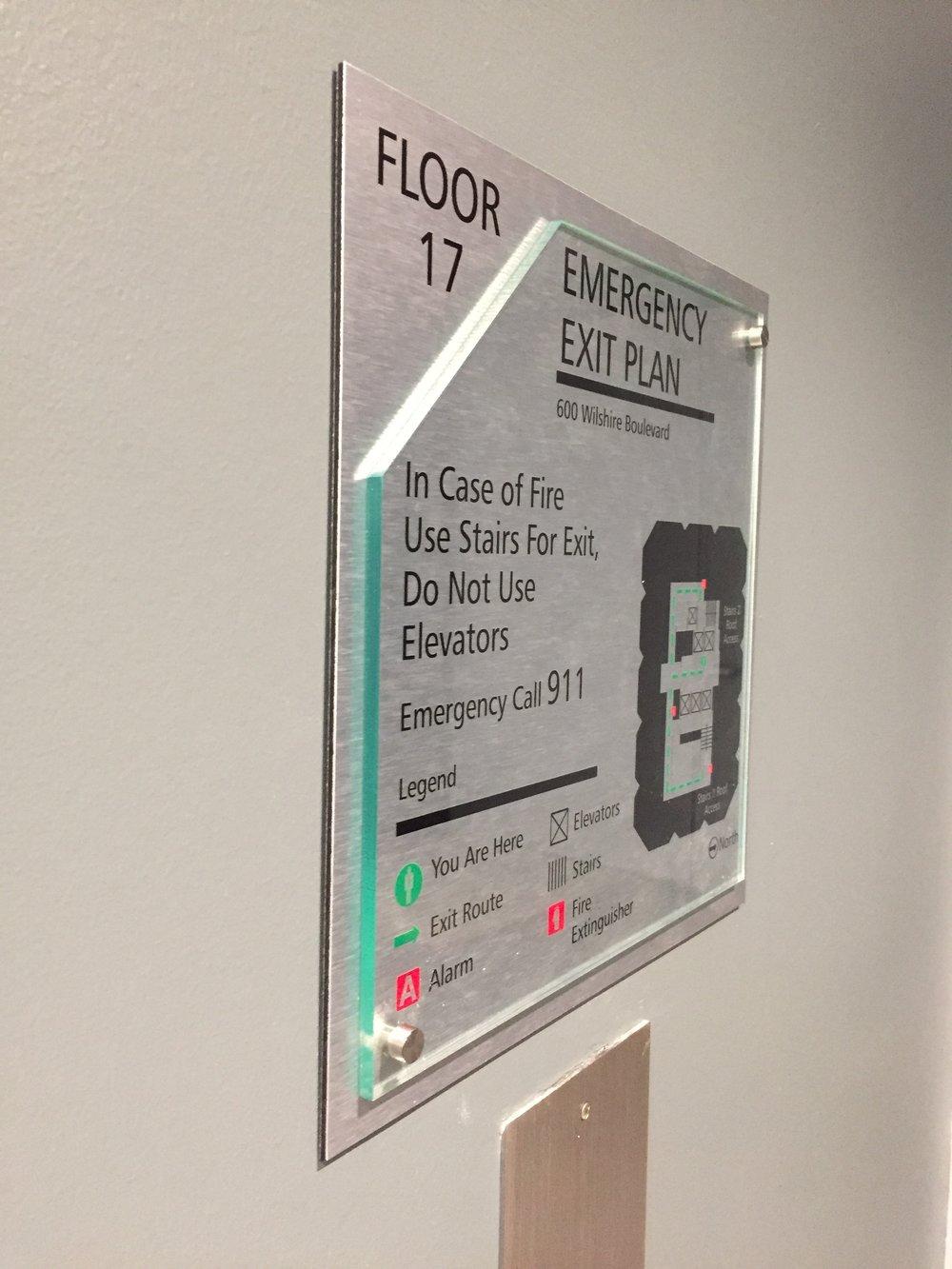 Emergency Evacuation Sign