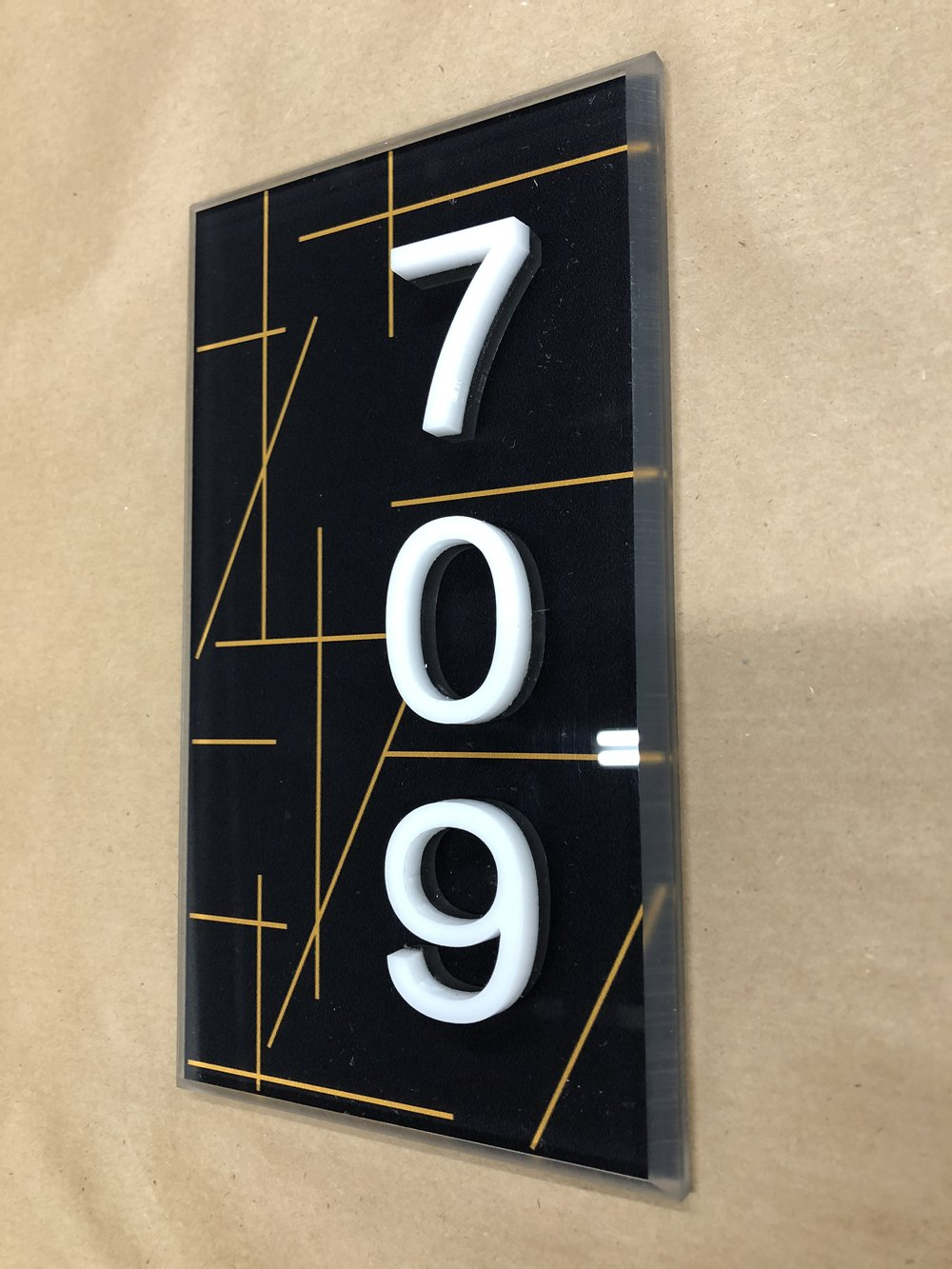 Elegant Unit Number Sign