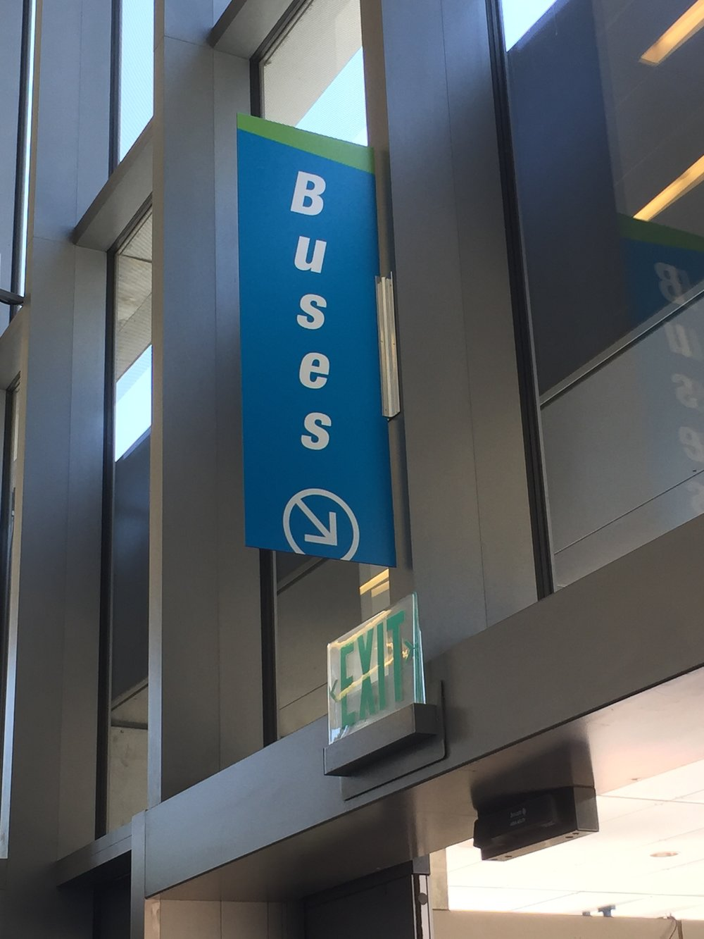 Bus Directional Blade Sign