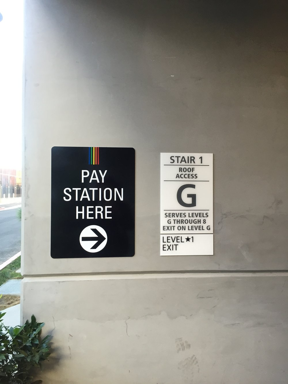 Parking Pay Station Directional Sign