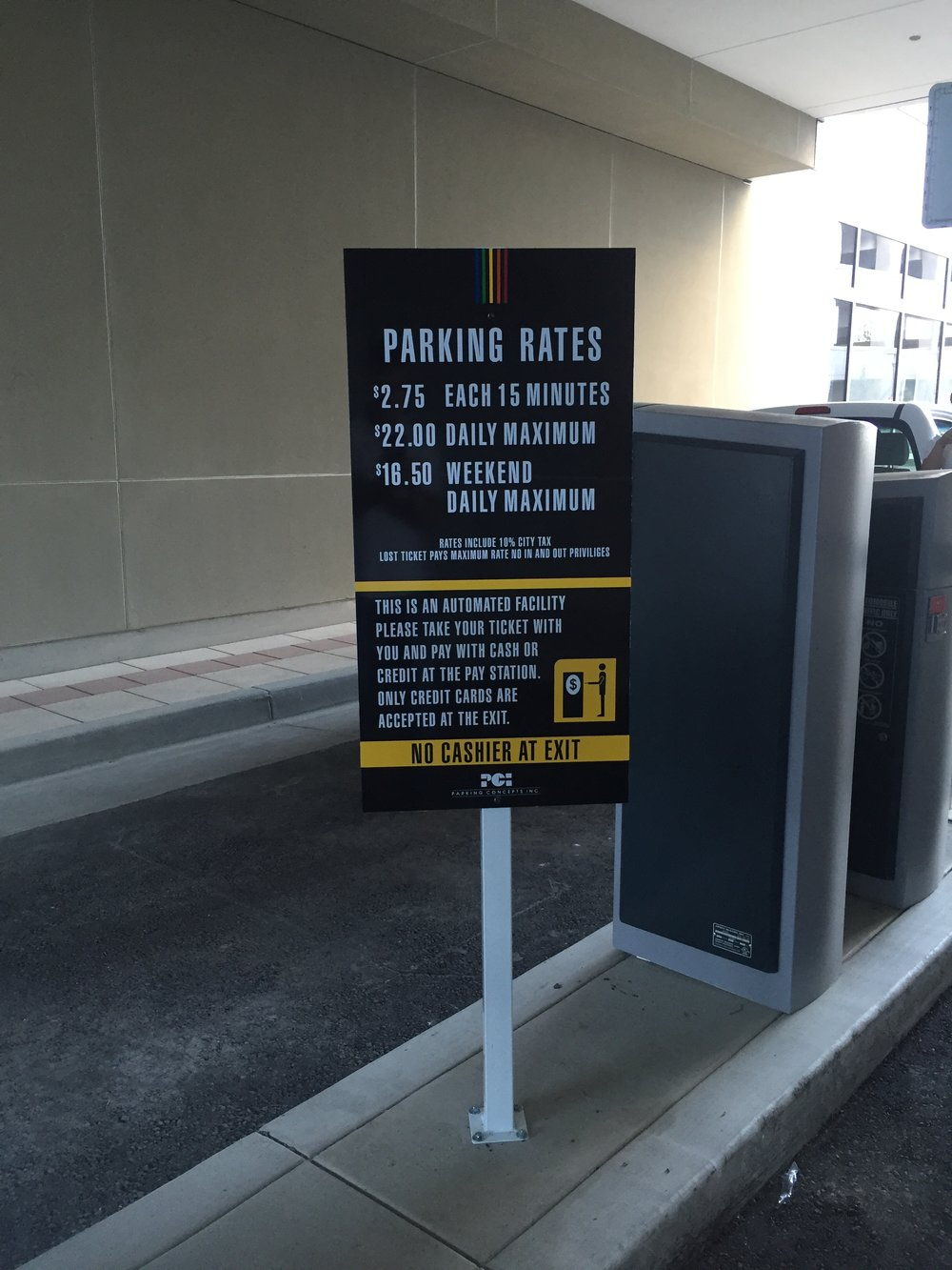 Automated Parking Rate Sign