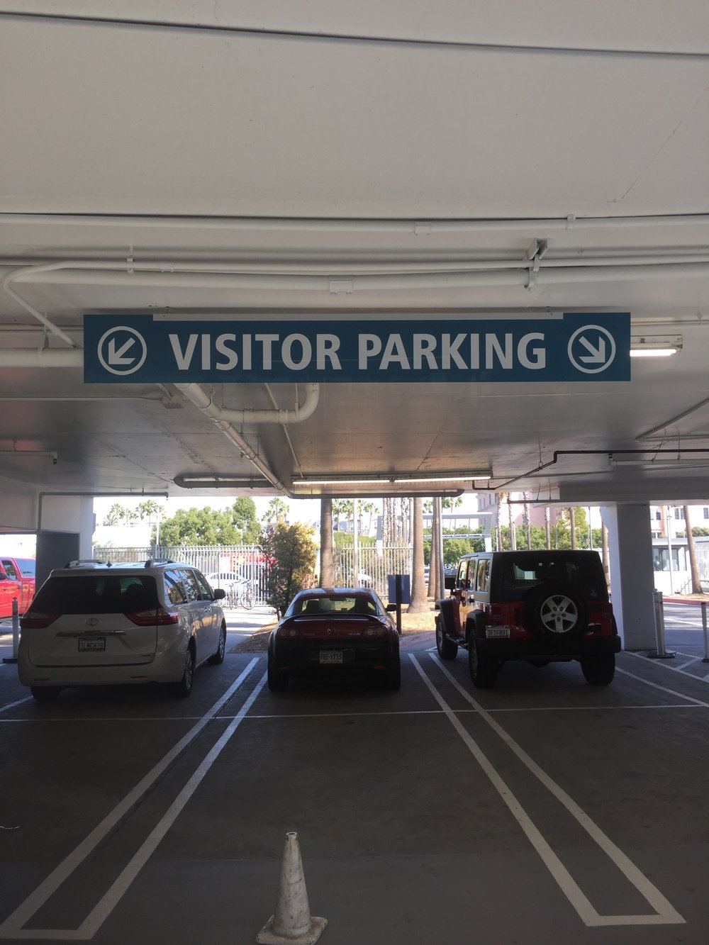 Visitor Parking Directional Sign