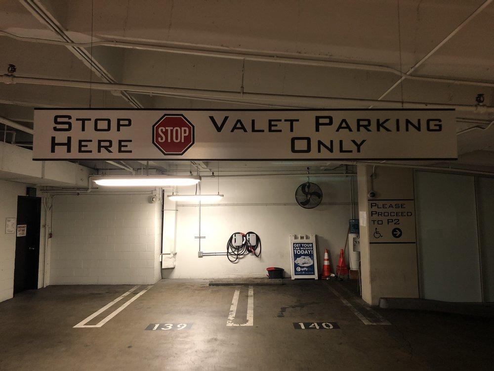 Suspended Valet Parking Sign