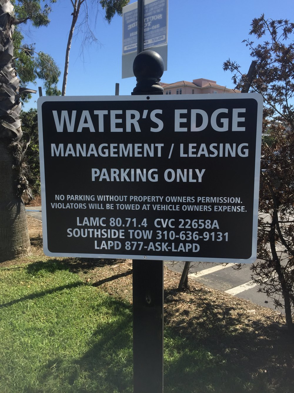 Water's Edge Sign
