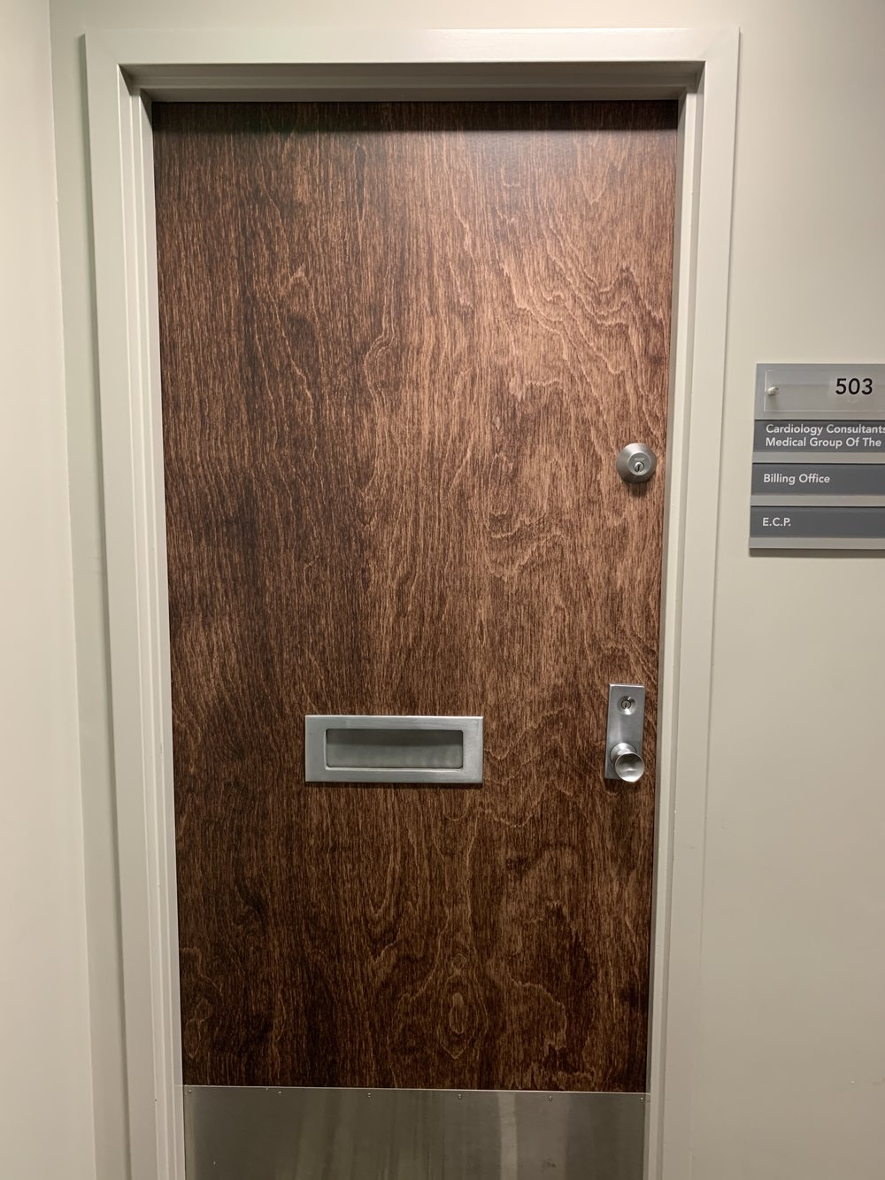 Vinyl Graphics Office door