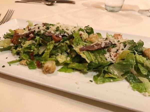 Caesar salad carbonara