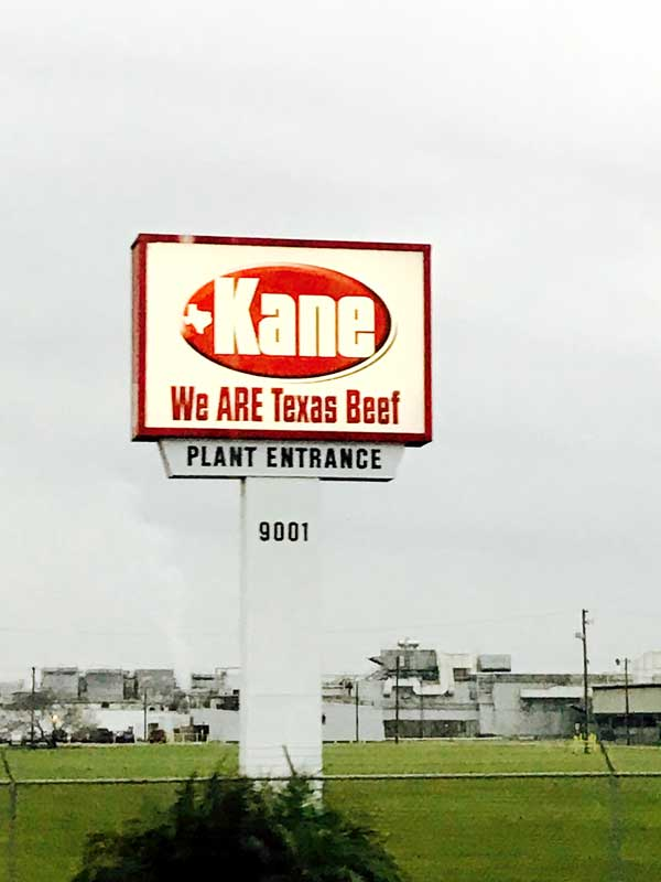 Kane processing plant sign