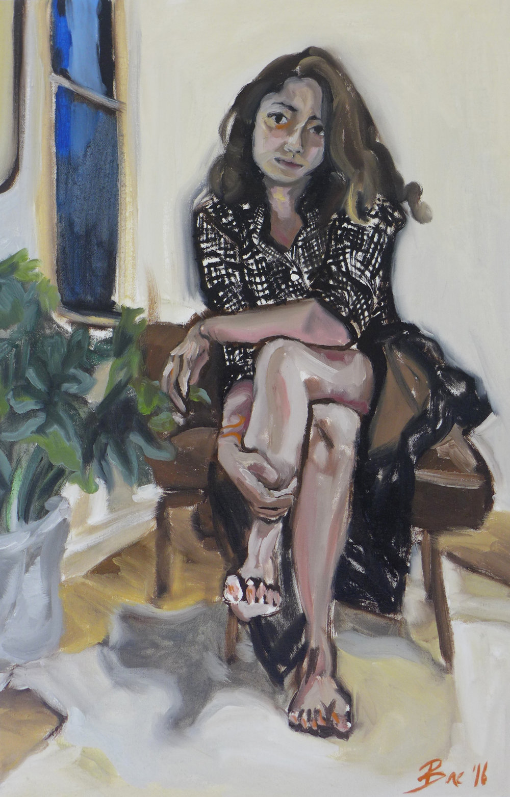 Courtney Bae, Courtney Bae, Oil on linen, 30x20 inches, $1400.jpg