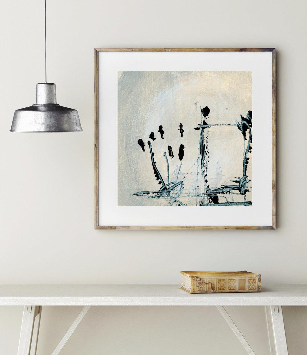 'Beige' Abstract Print by Kierstie
