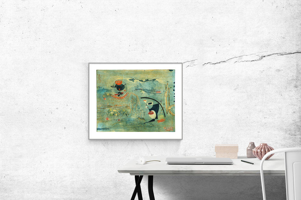 'Free World' Fine Art Etching by Heike