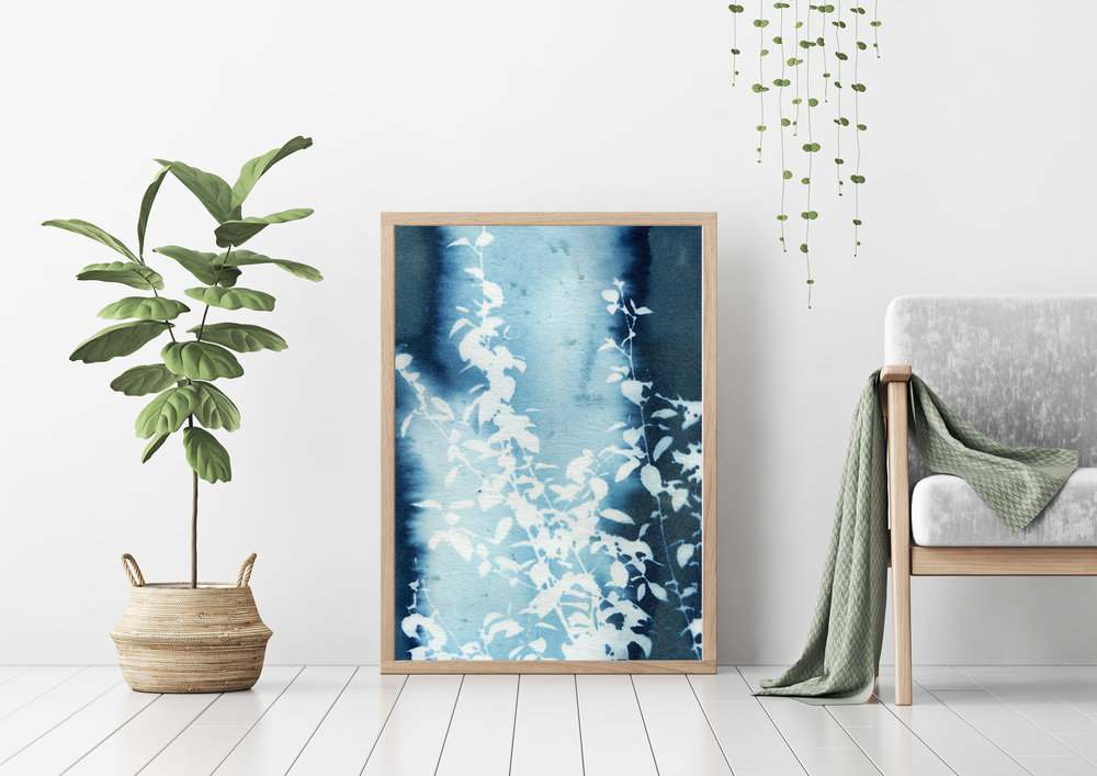 'Blue Highways' cyanotype print by Krista McCurdy