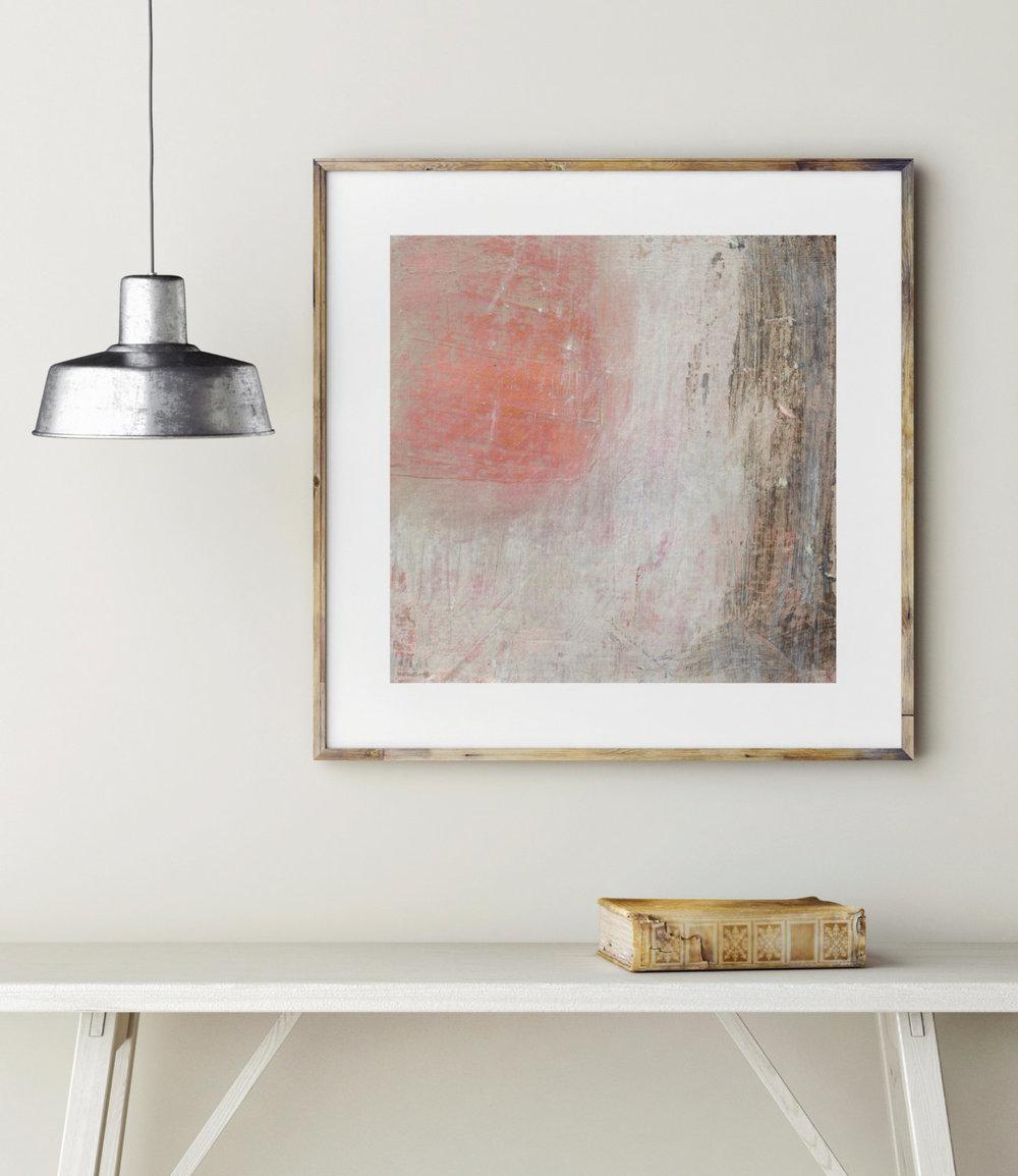 'Peach' abstract print by Kierstie Masih
