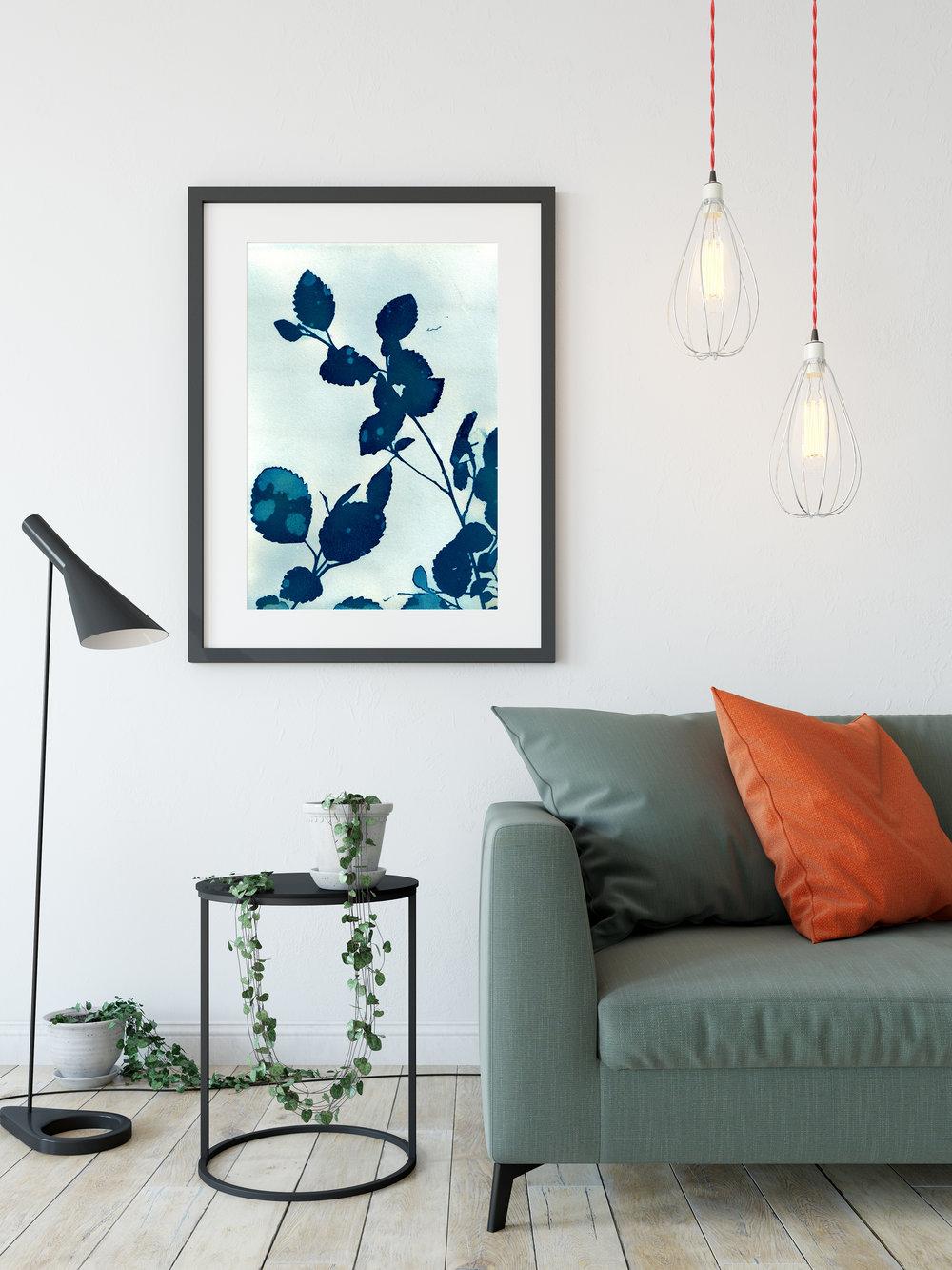 'Blue Note' cyanotype print