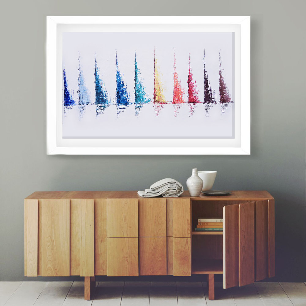 Sailing Boats acrylic painting by Baron Visi