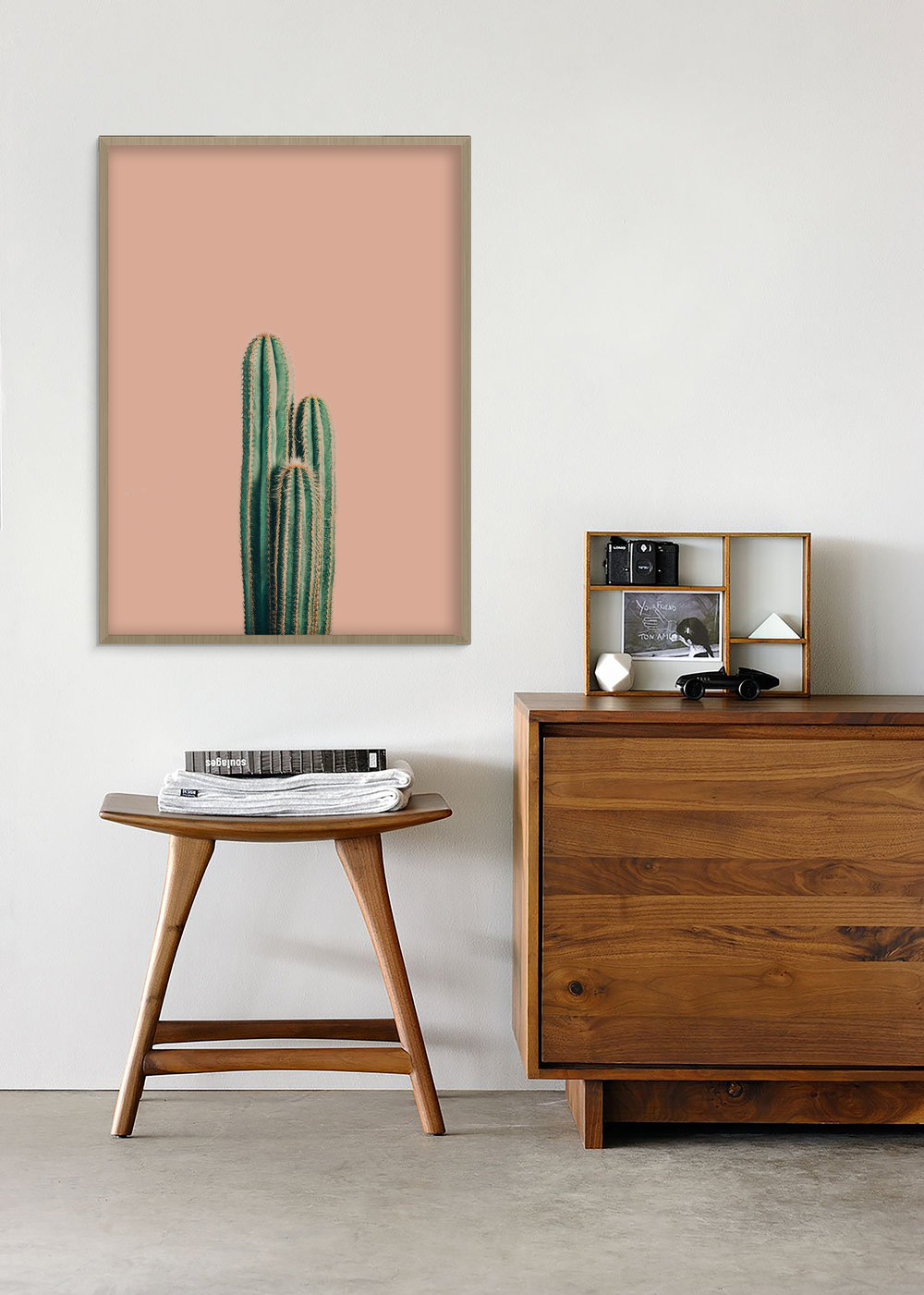 Living Coral cactus poster