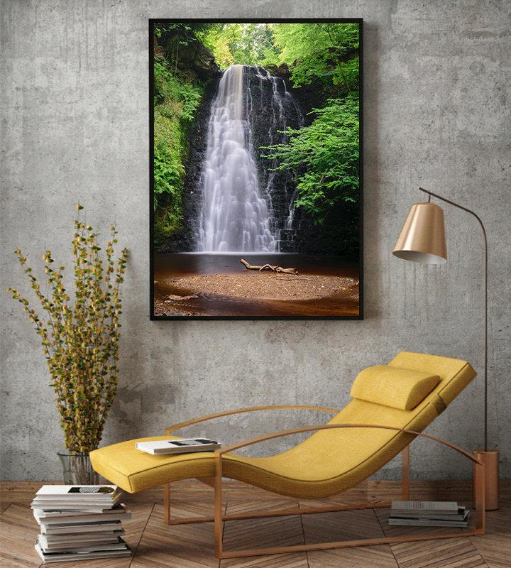 Falling Foss Yorkshire Waterfall photographic print by Stuart Swies