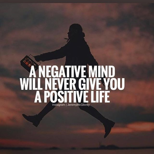 A positive attitude creates a happy life.
