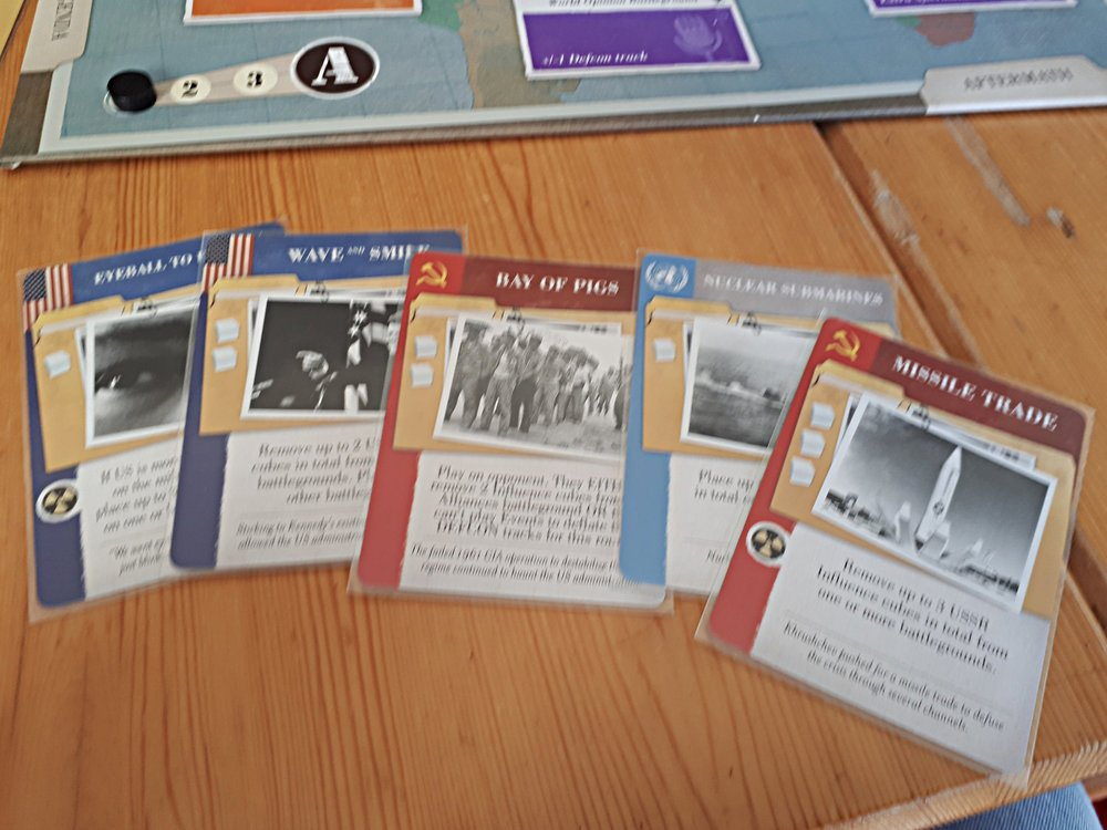 13 Days' kort er i den typiske Twilight Struggle stil