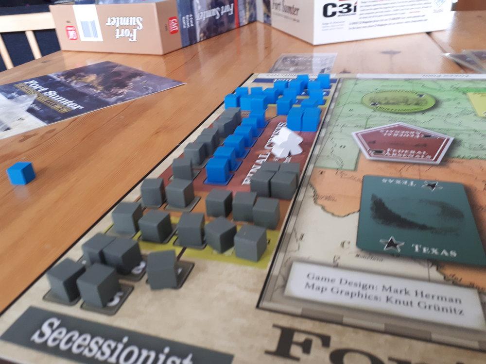Tracket som man i Fort Sumter trækker sine cubes fra