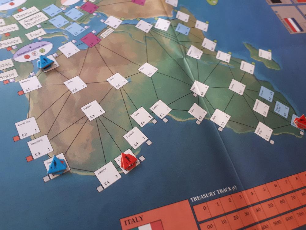 Afrika er næsten tomt når spillet begynder